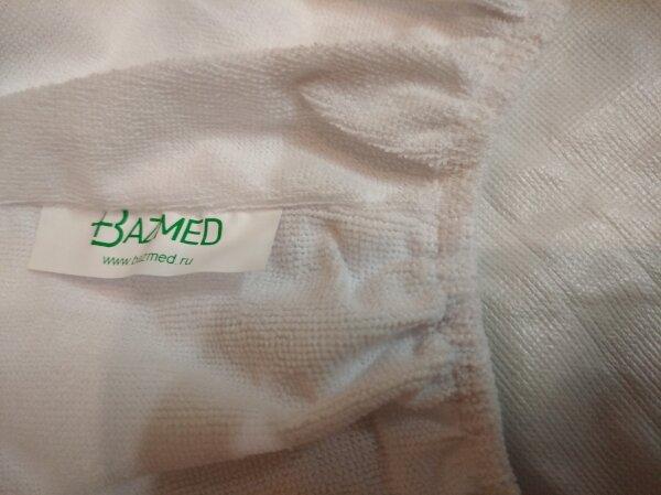 Непромокаемый наматрасник с бортами - тканьТерри: верхний слой хлопок (махра), нижний слой полиуретан