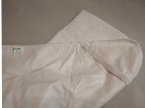 Непромокаемый наматрасник из ткани Терри без бортов, крепление угловое на резинках