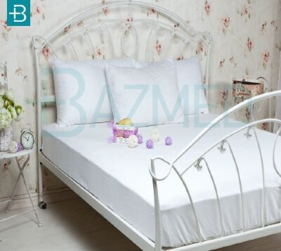 Комплект непромокаемого постельного белья из  хлопка полутороспальный большой