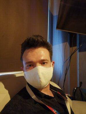 Защитная маска для лица Bazmed Mask 02 - цвет белый