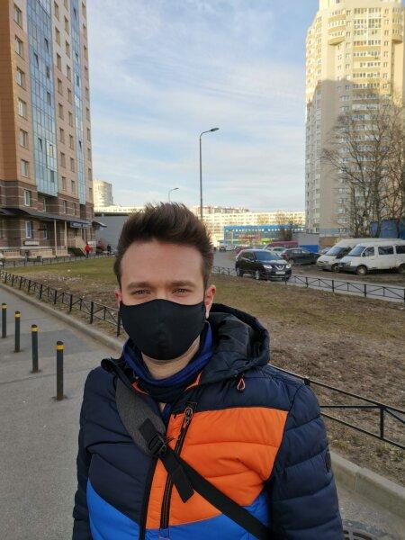 Защитная маска для лица Bazmed Mask 02 - цвет черный