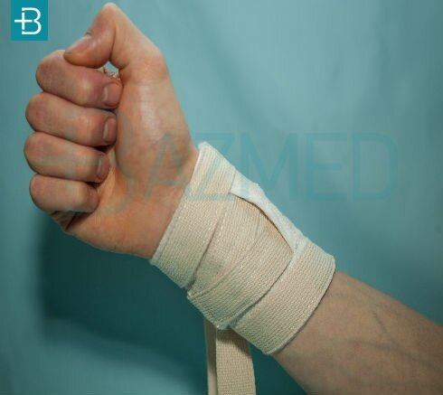 Фиксатор-ремень из х/б ткани (вязка) для рук